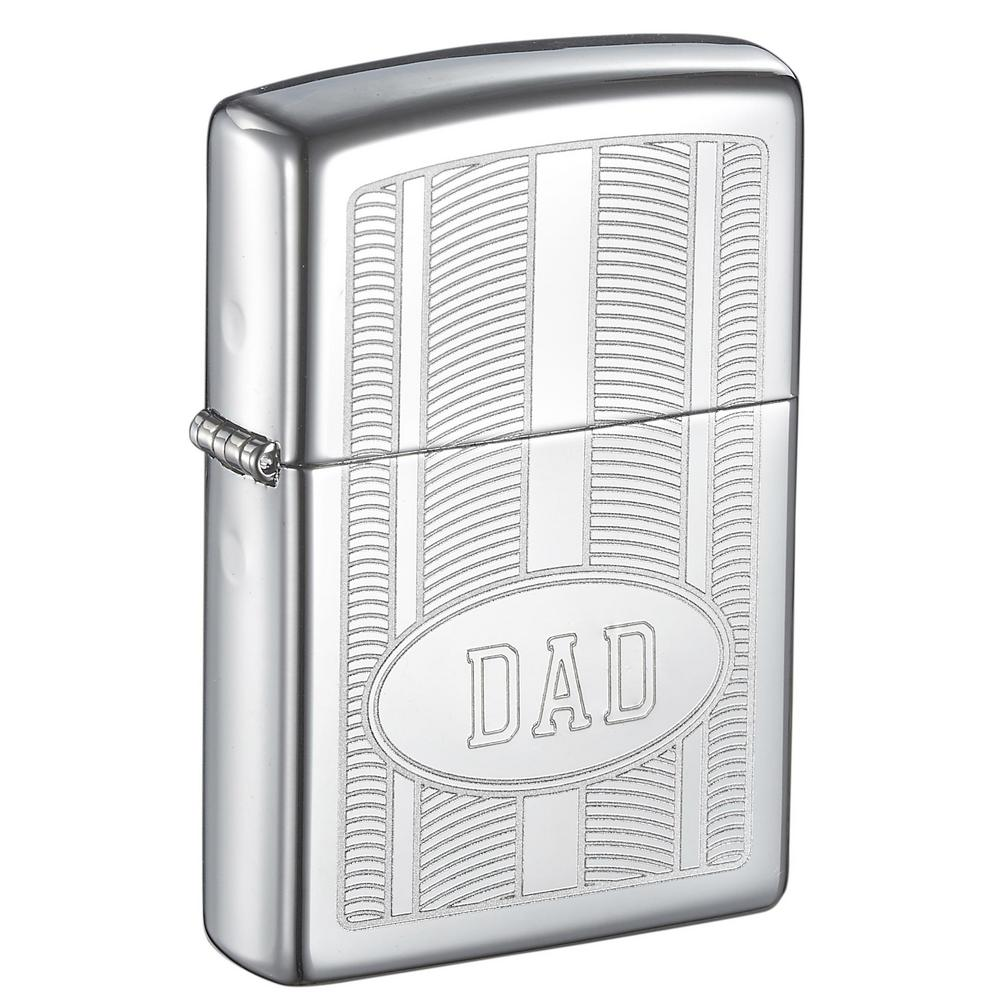 "Zippo ""DAD"" Oval Design High Polish Father's Day Lighter"