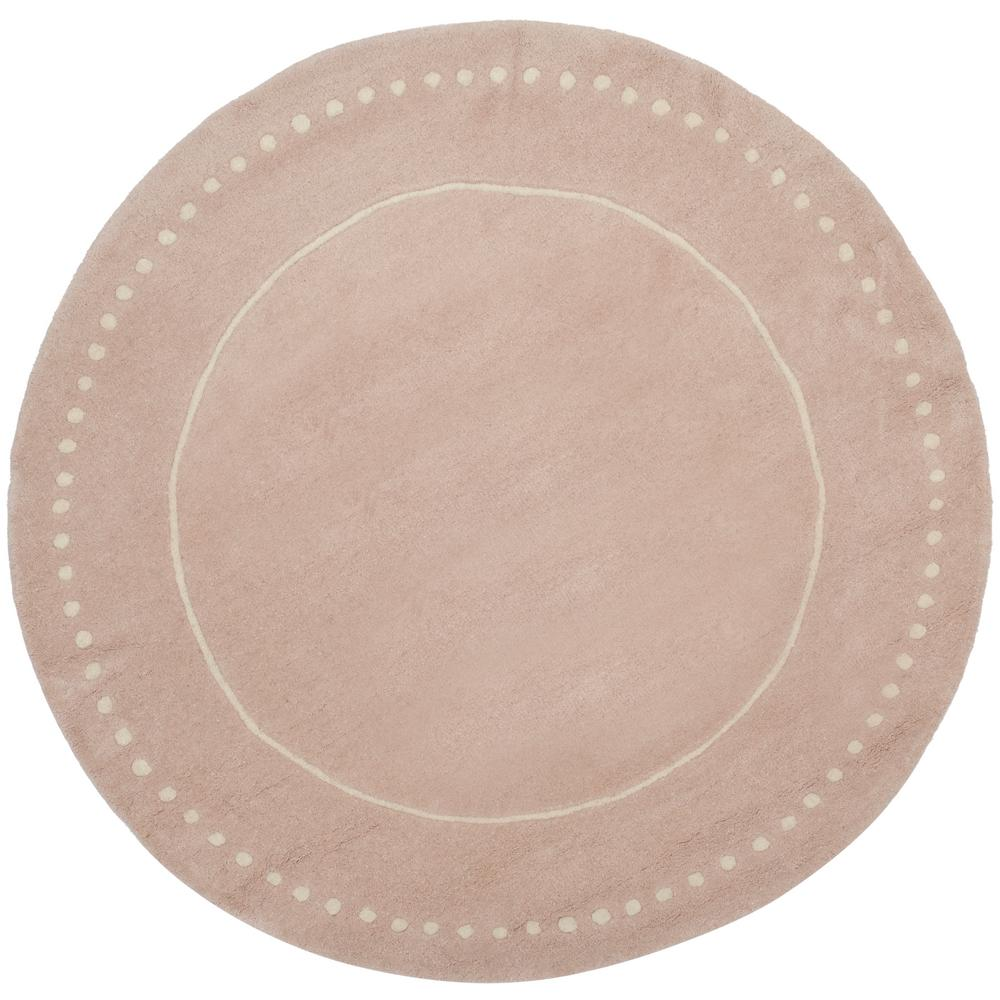 Safavieh Bella Light Pink/Ivory 5 Ft. X 5 Ft. Round Area