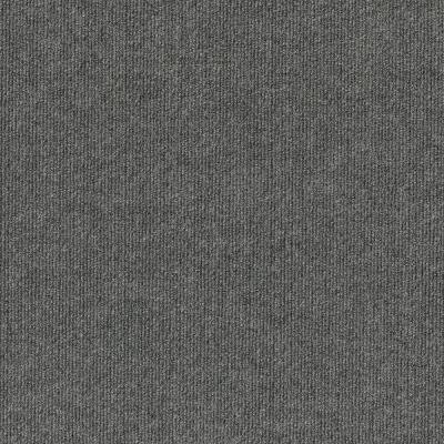Elevations - Color Sky Grey Ribbed Texture Indoor/Outdoor 12 ft. Carpet