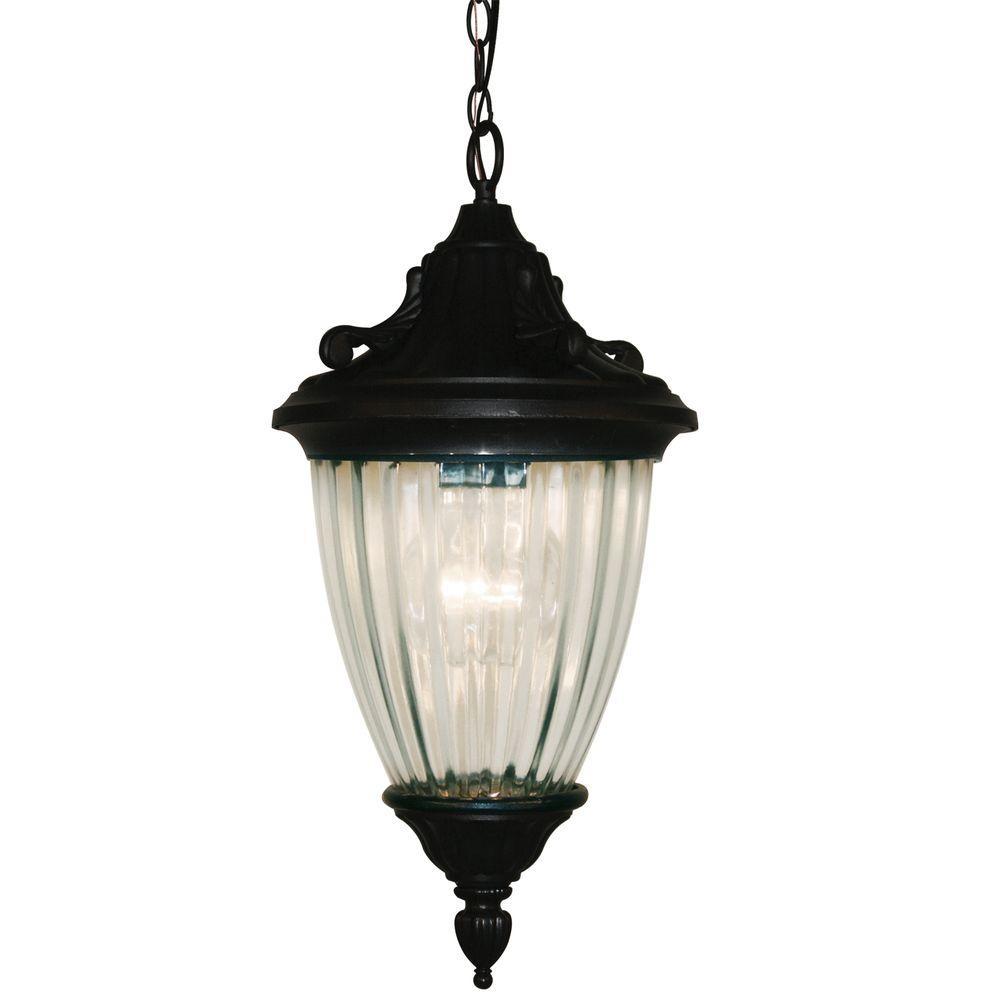 Tulen Lawrence 1-Light Outdoor Hanging Black Incandescent Pendant