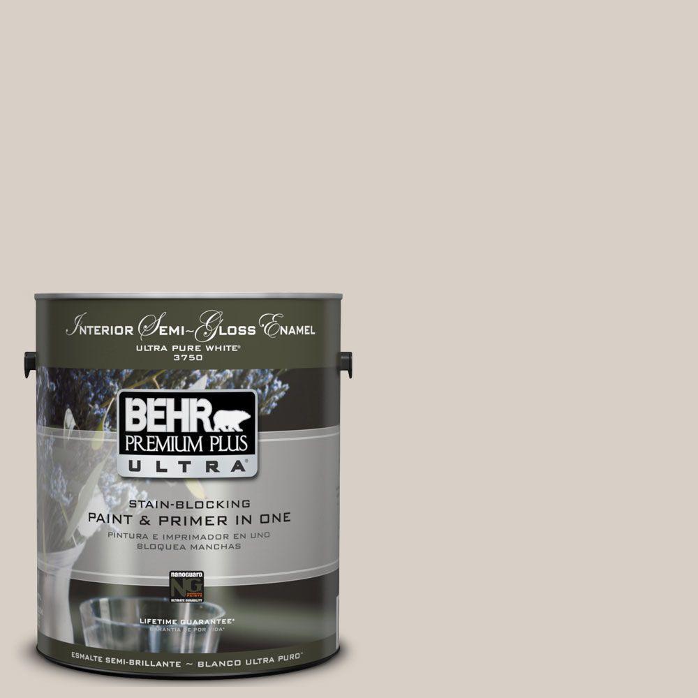 BEHR Premium Plus Ultra 1-gal. #UL170-15 Mineral Interior Semi-Gloss Enamel Paint