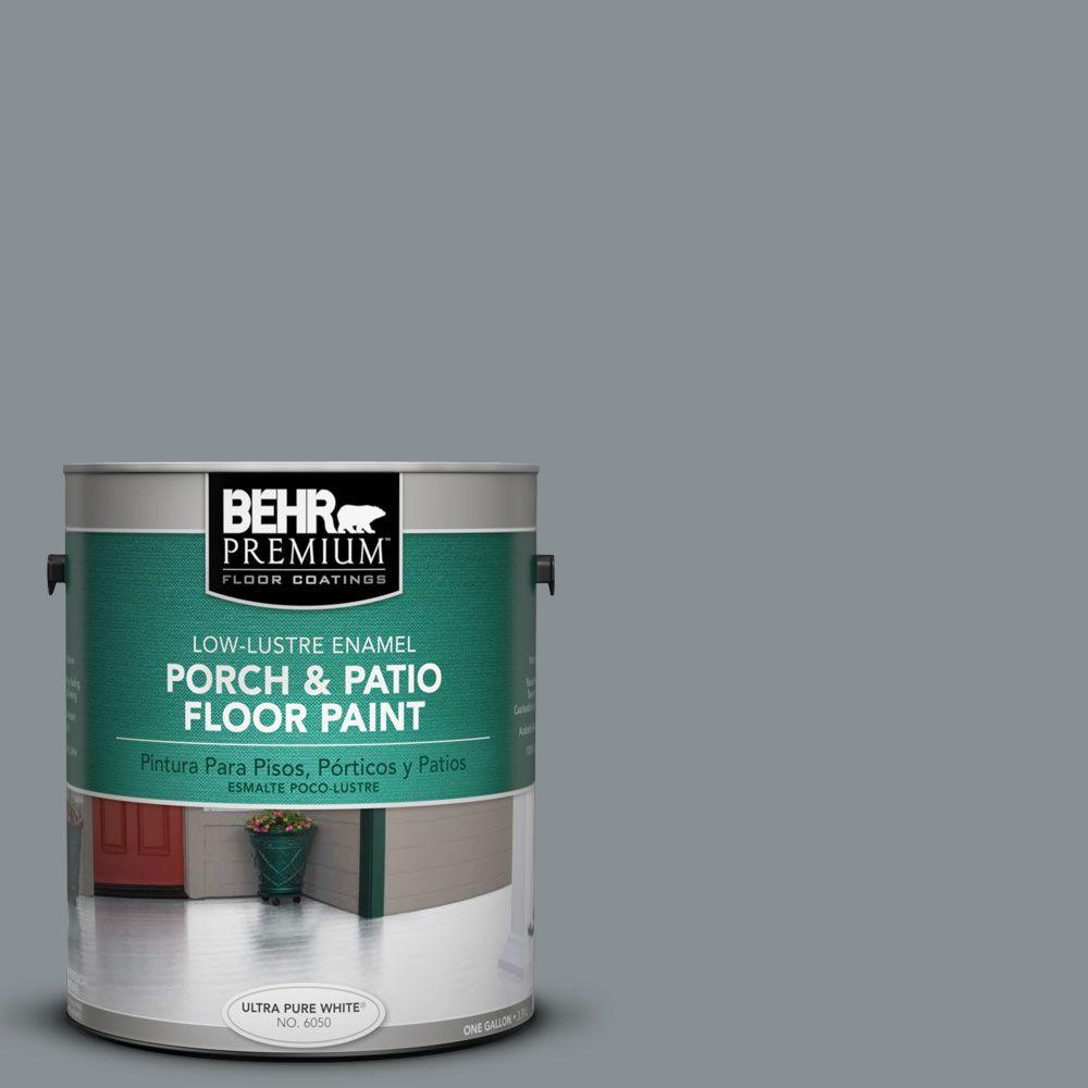 1-Gal. #PFC-47 Raw Steel Low-Lustre Porch and Patio Floor Paint
