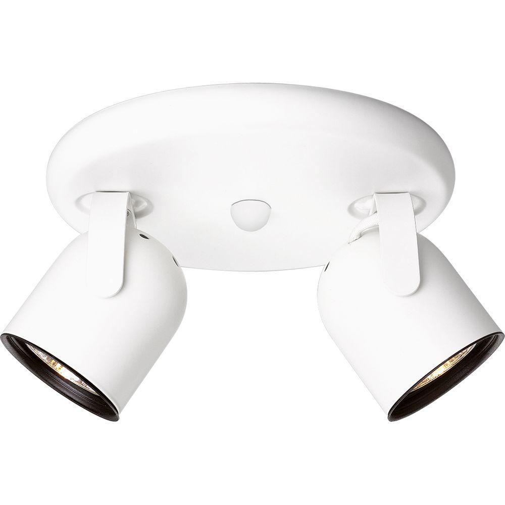 Progress Lighting White 2-light Spotlight Fixture