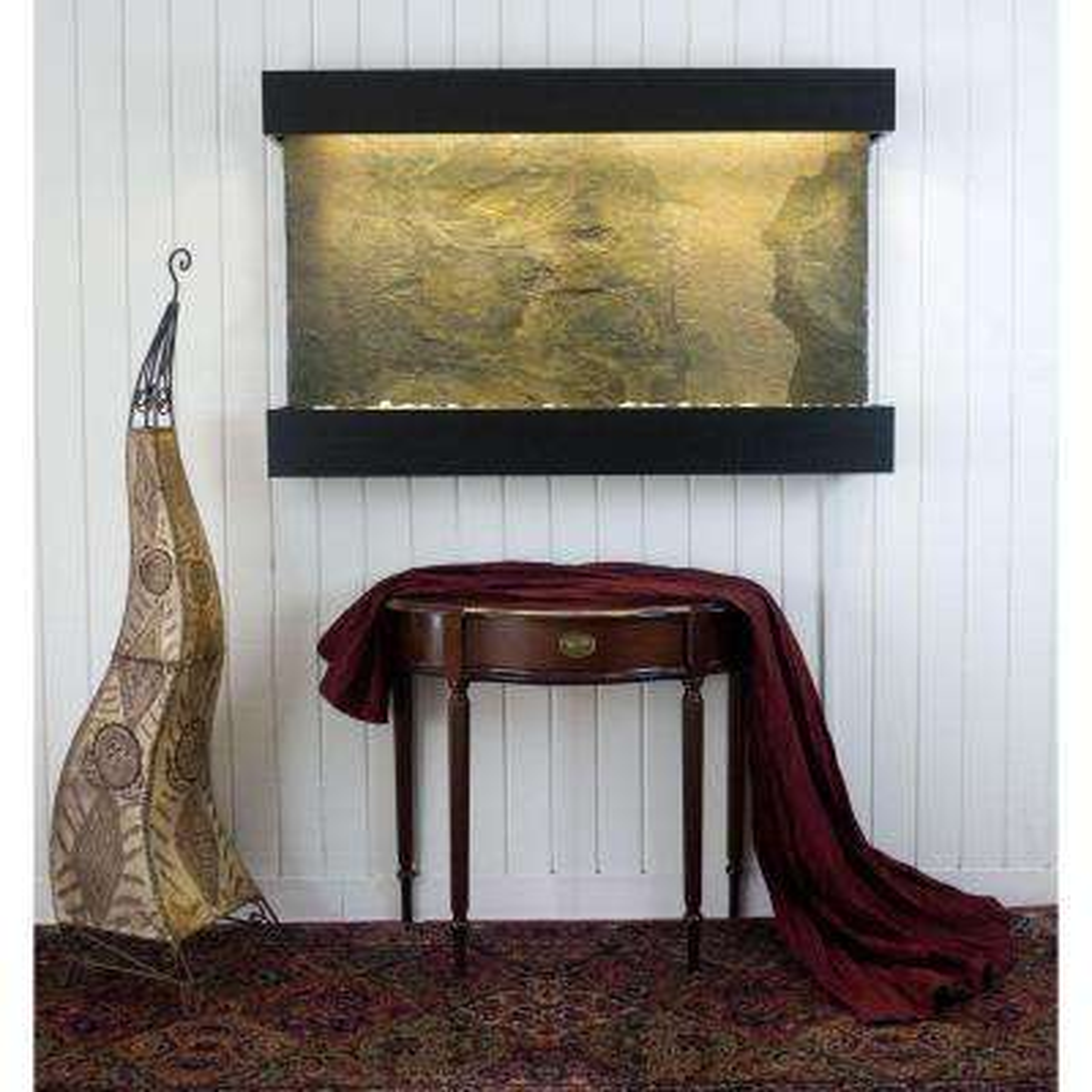 Classic Quarry Large Horizon Falls Jeera Slate with Black Onyx Trim Kit Fountain