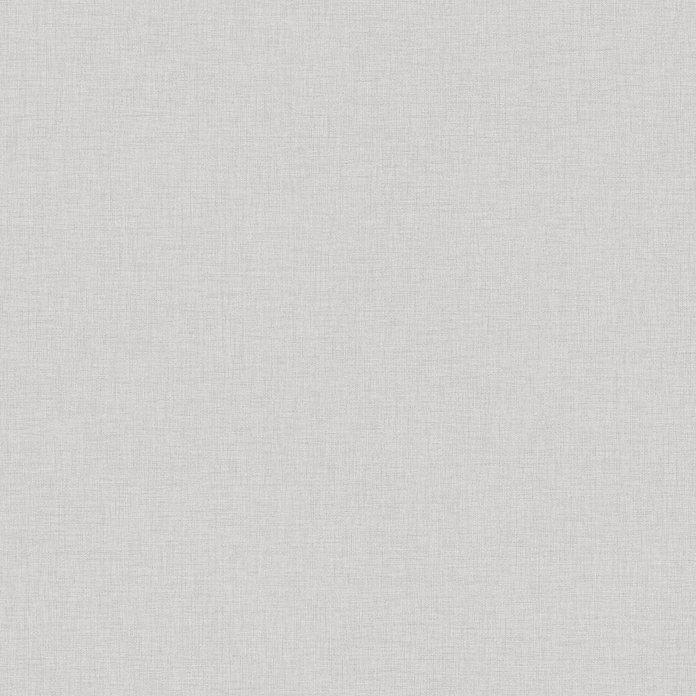 57.8 sq. ft. Zack Uni Grey Faux Linen Wallpaper