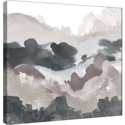 15.in x 15.in ''Layers of Winter D'' Printed Canvas Wall Art
