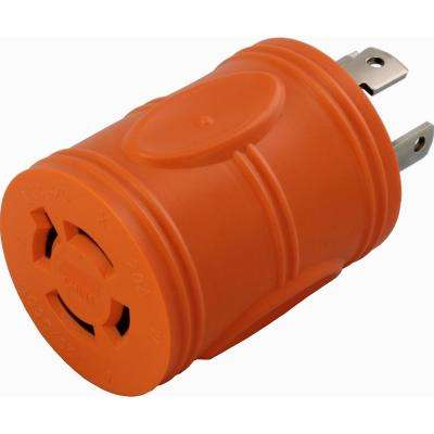 Locking Adapter NEMA L14-30P 30Amp 125/250Volt 4Prong Locking Plug to L14-20R 4Prong 20Amp Locking Female Connector