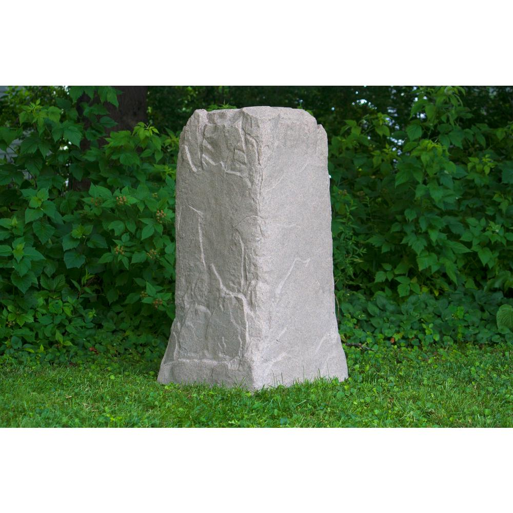 Emsco Emsco 36-3/4 in. H x 18 in. W x 19 in. L Monolith Landscape Sandstone Resin Rock Utility Cover