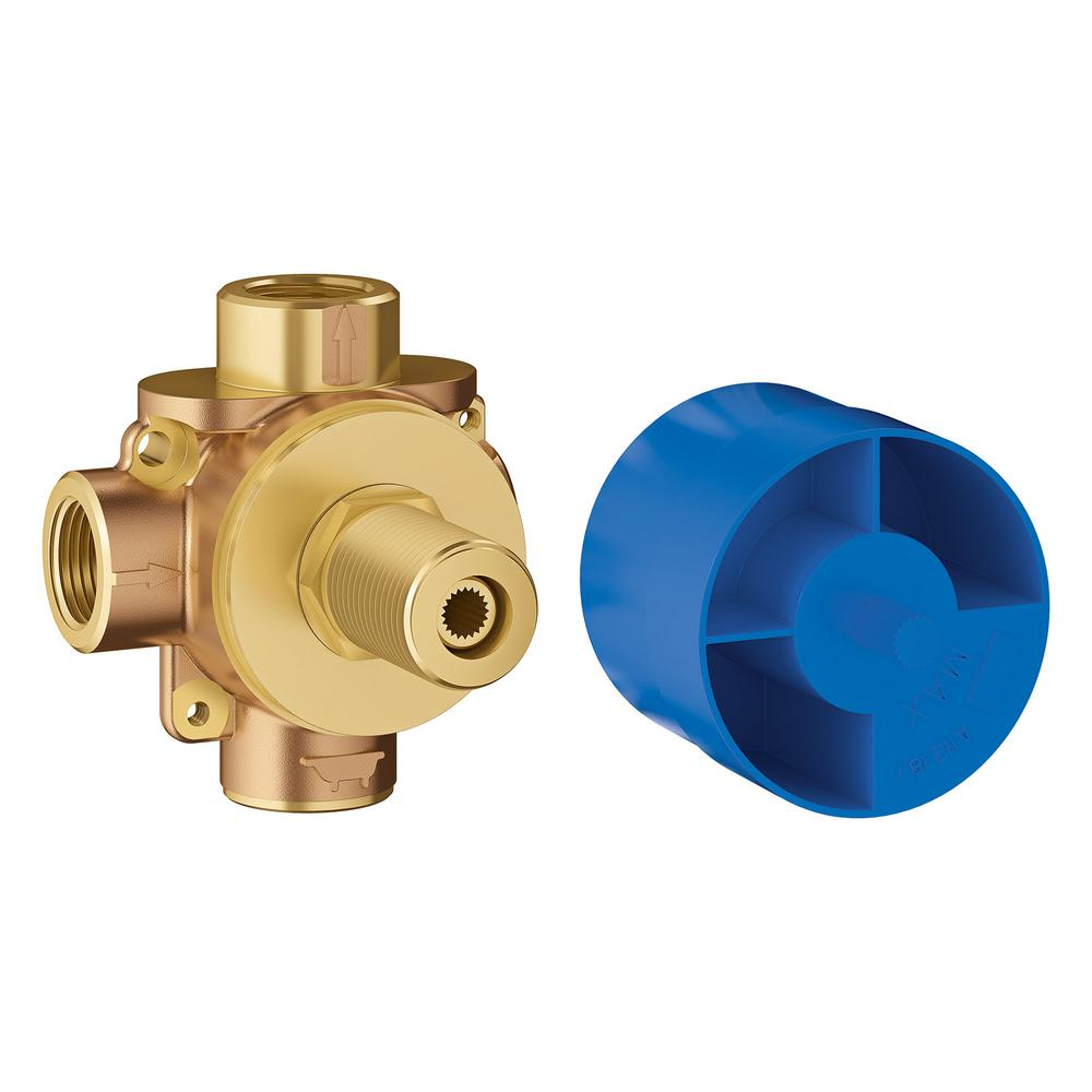 GROHE 1/2 in. 2-Way Pressure Balance Rough Valve
