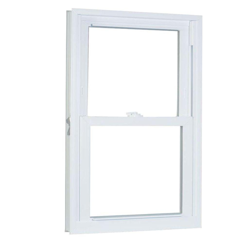 23.75 in. x 57.25 in. 70 Series Pro Double Hung White