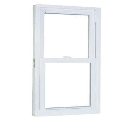 23.75 in. x 57.25 in. 70 Series Pro Double Hung White Vinyl Window with Buck Frame