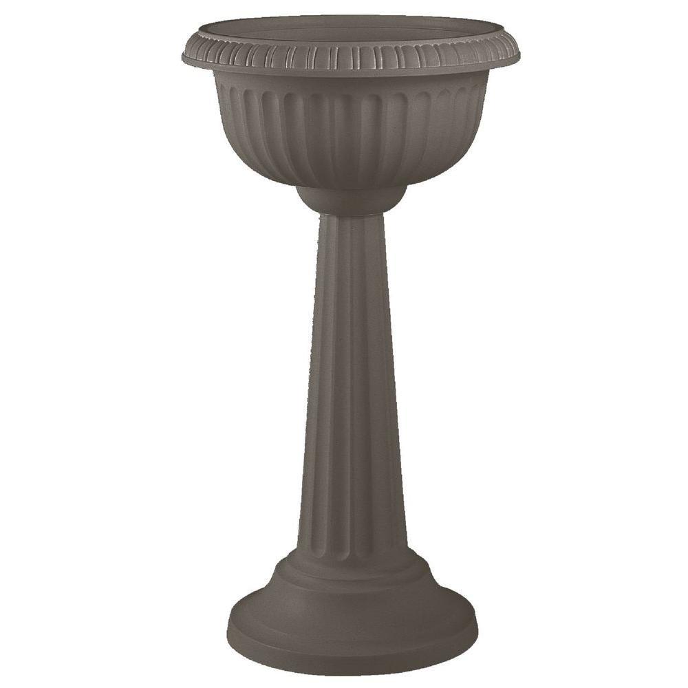 18 x 32 Peppercorn Grecian Plastic Urn Pedestal Planter