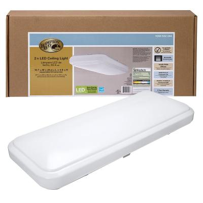 24 in. x 12 in. Classic White Rectangle LED Flush Mount Ceiling Light 4000K Bright White 1500 Lumens Dimmable