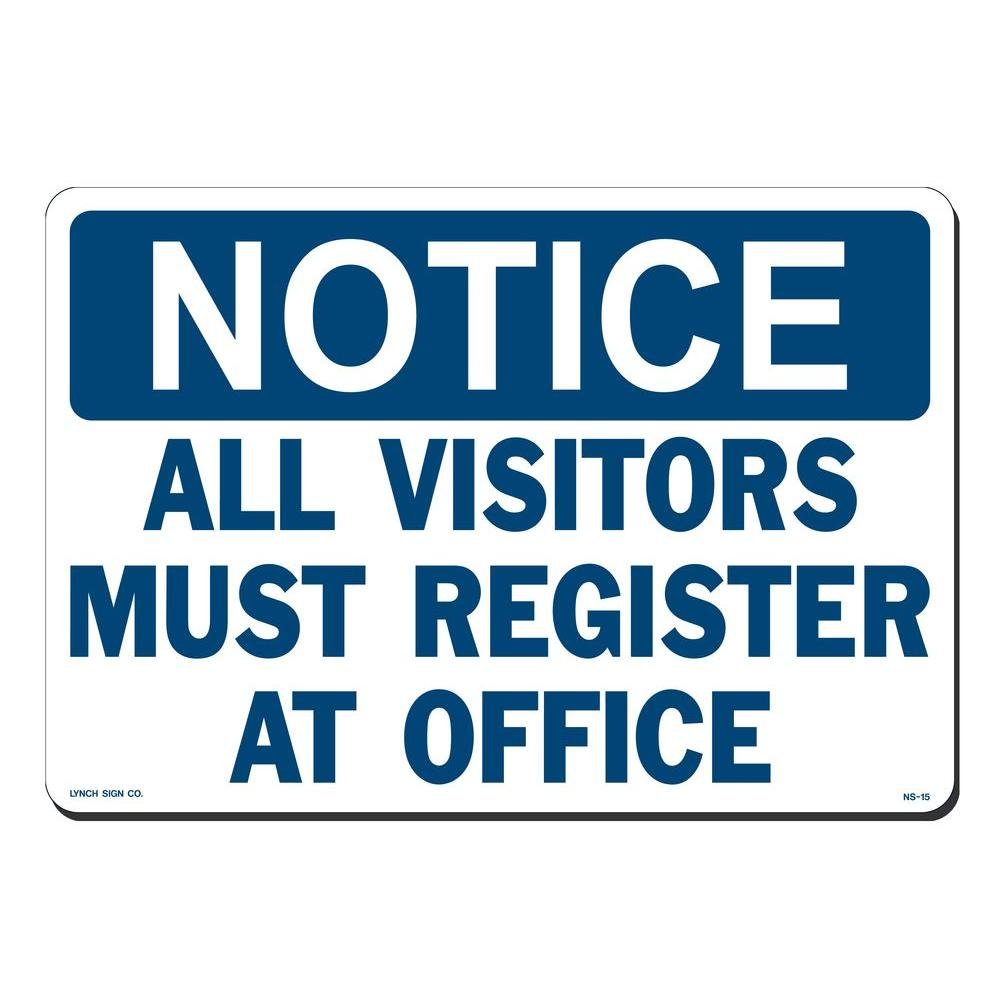 p printed must longer sign stock lynch on lasting more plastic register signs x in styrene durable thicker depot office visitors notice ns all
