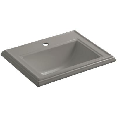 Memoirs Drop-In Vitreous China Bathroom Sink in Cashmere with Overflow Drain