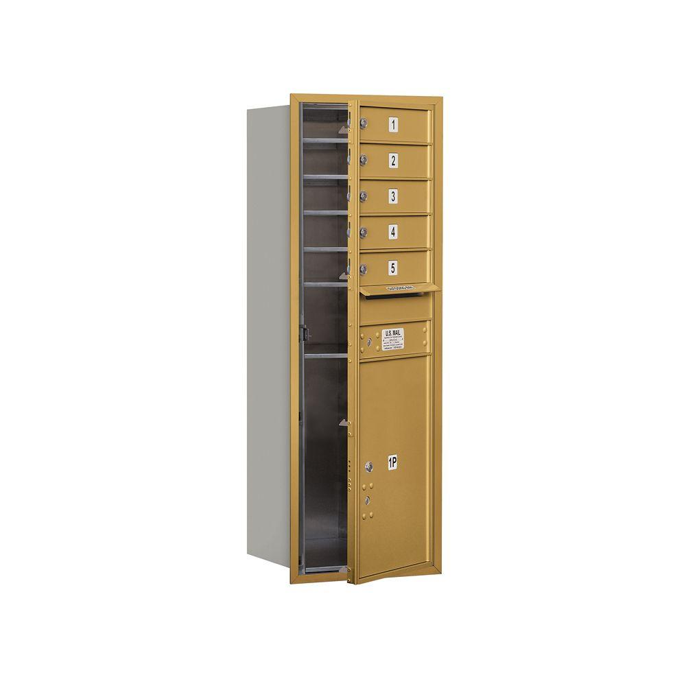 3700 Series 48 in. 13 Door High Unit Gold Private Front