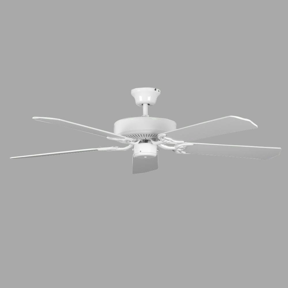 Radionic hi tech homestead 52 in white ceiling fan with 5 blades radionic hi tech homestead 52 in white ceiling fan with 5 blades aloadofball Choice Image