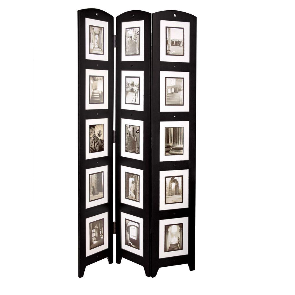 Az Home And Gifts 5 4 Ft Espresso 3 Panel Room Divider Pn09520 7 The Depot