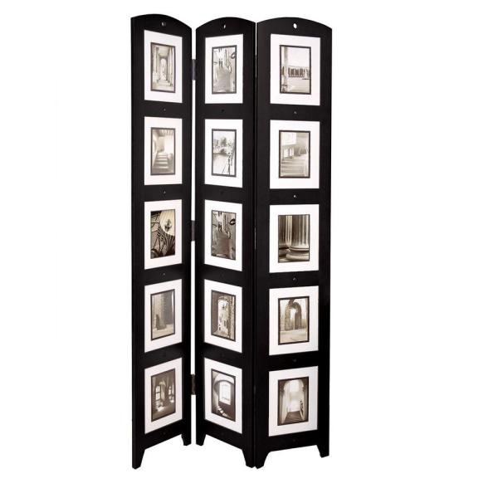 5 4 ft  Black 3-Panel Room Divider