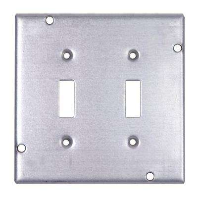 4-11/16 in. 1/2 in. Deep Pre-Galvanized Steel Square Box Surface Cover for 2 Toggle Switches (Case of 10)