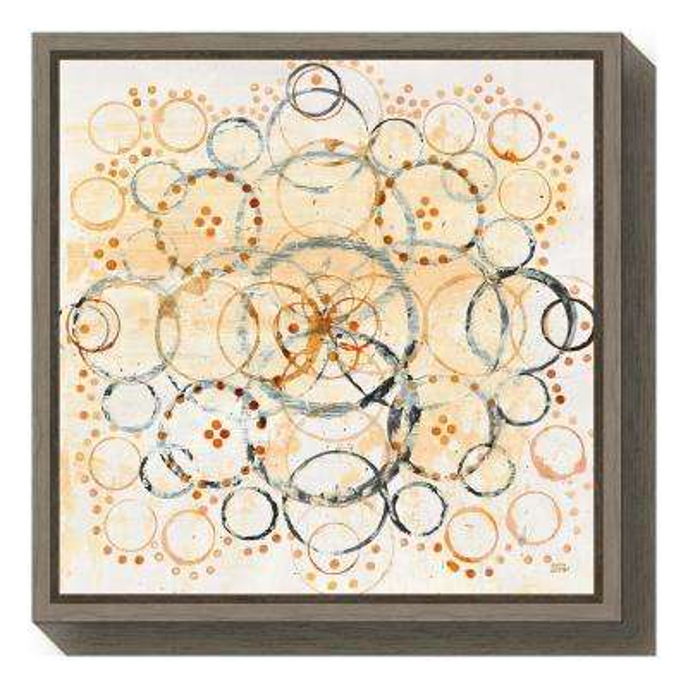 """Henna Mandala II Crop"" by Melissa Averinos Framed Canvas Wall Art"