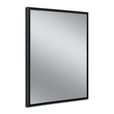 24 in. W x 30 in. H Black Studio Float Wall Mirror