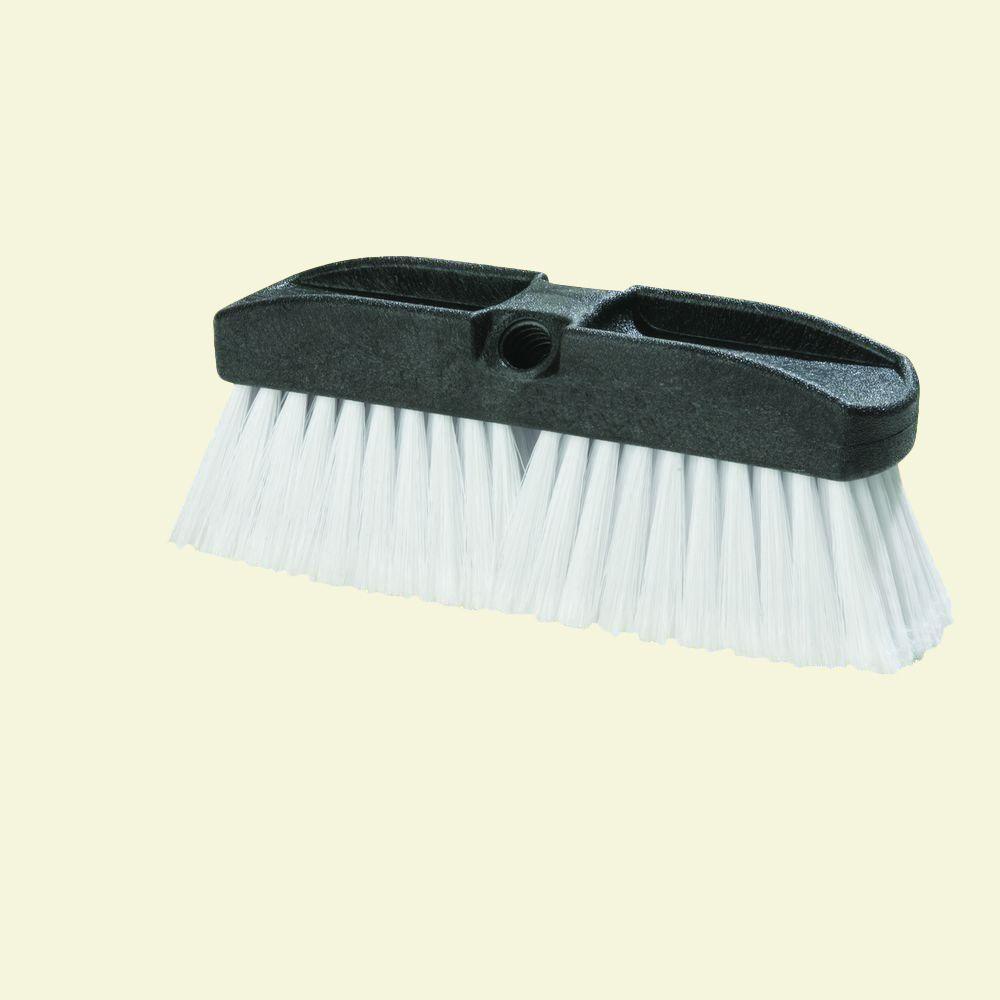 10 in. Flo-thru Vehicle Brush with Polystyrene Bristles (Case of 12)