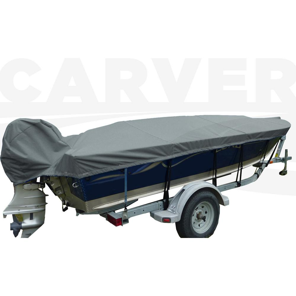 Styled-To-Fit Boat Cover For V-Hull Fishing Boats, Wide Series w/Motor Hood,