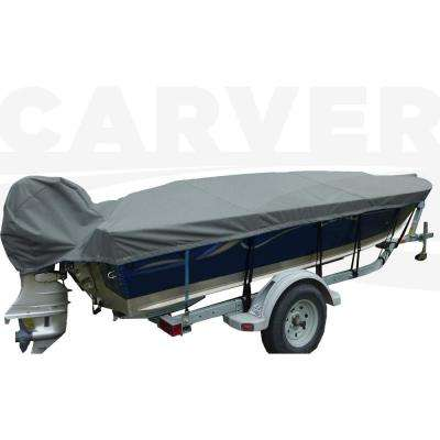 15 ft. 6 in. Centerline Styled-To-Fit V-Hull Fishing Wide Series Boat Cover with Attached Motor Cover Camo