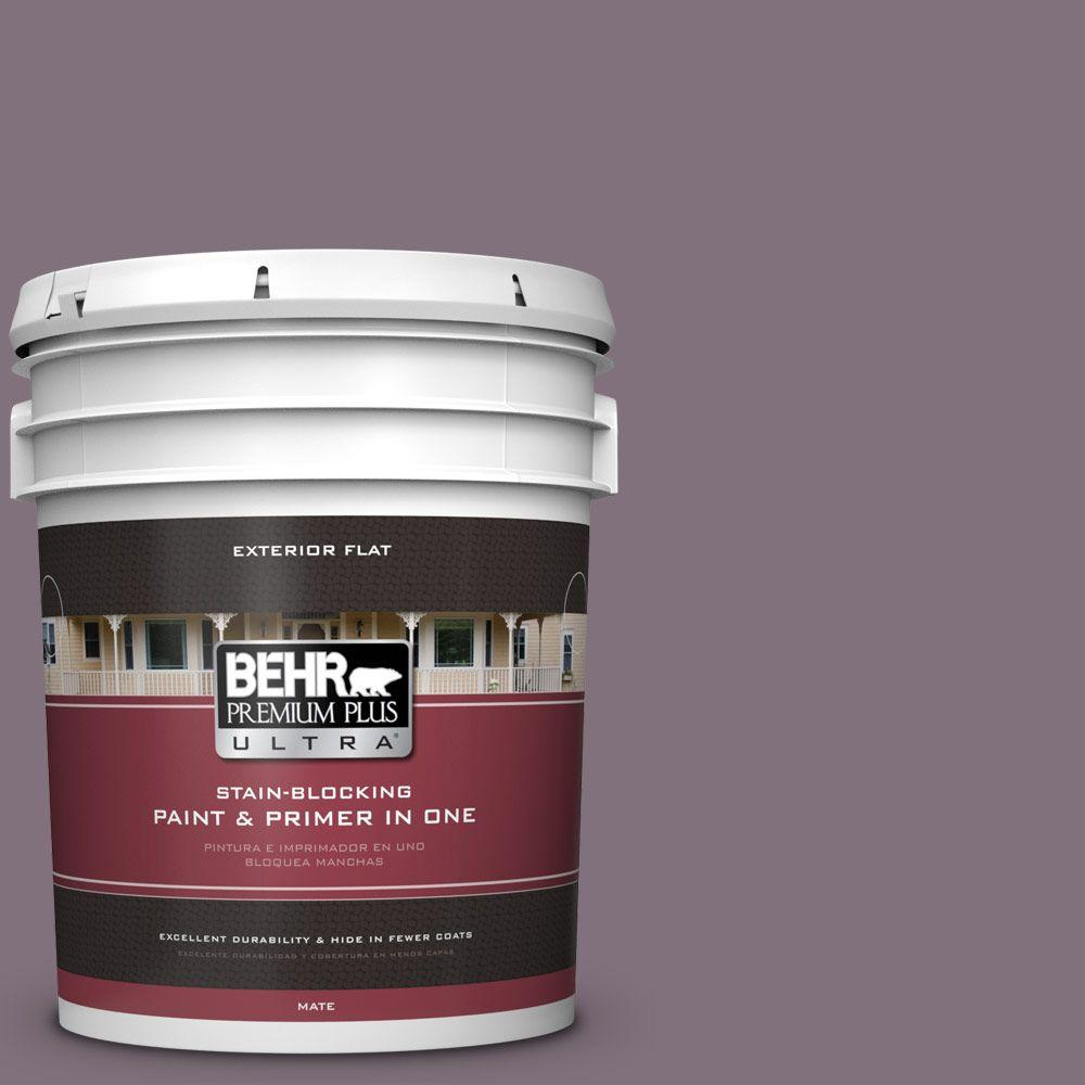 5-gal. #690F-6 Wine Frost Flat Exterior Paint