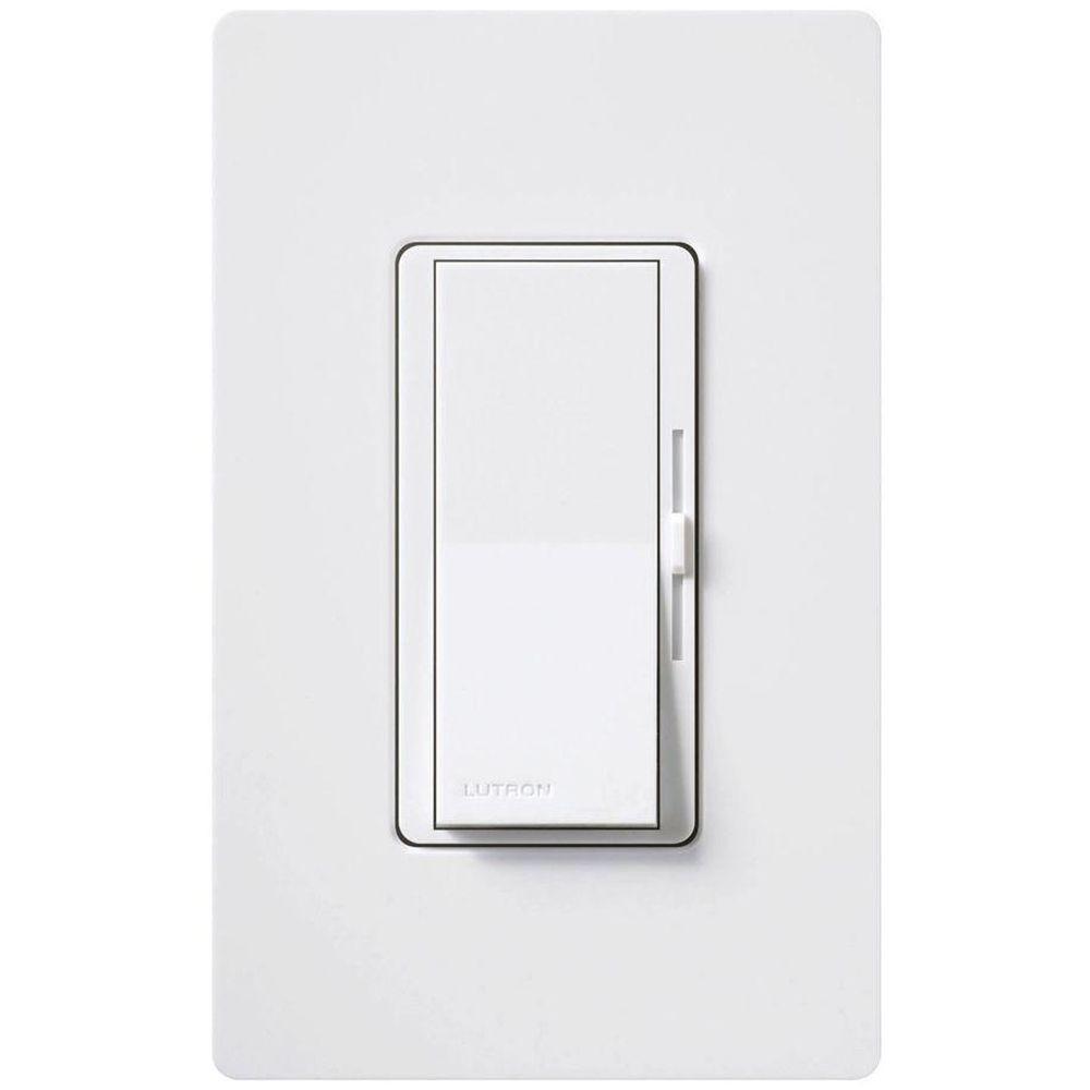 Lutron Diva 3-Speed Fan Control with Wallplate Switch, Single-Pole, White
