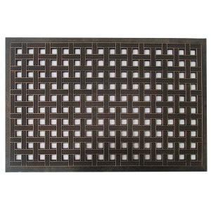 Click here to buy  A1HC First Impression Estate 24 inch x 36 inch Rubber Stud Door Mat with Copper Finish.