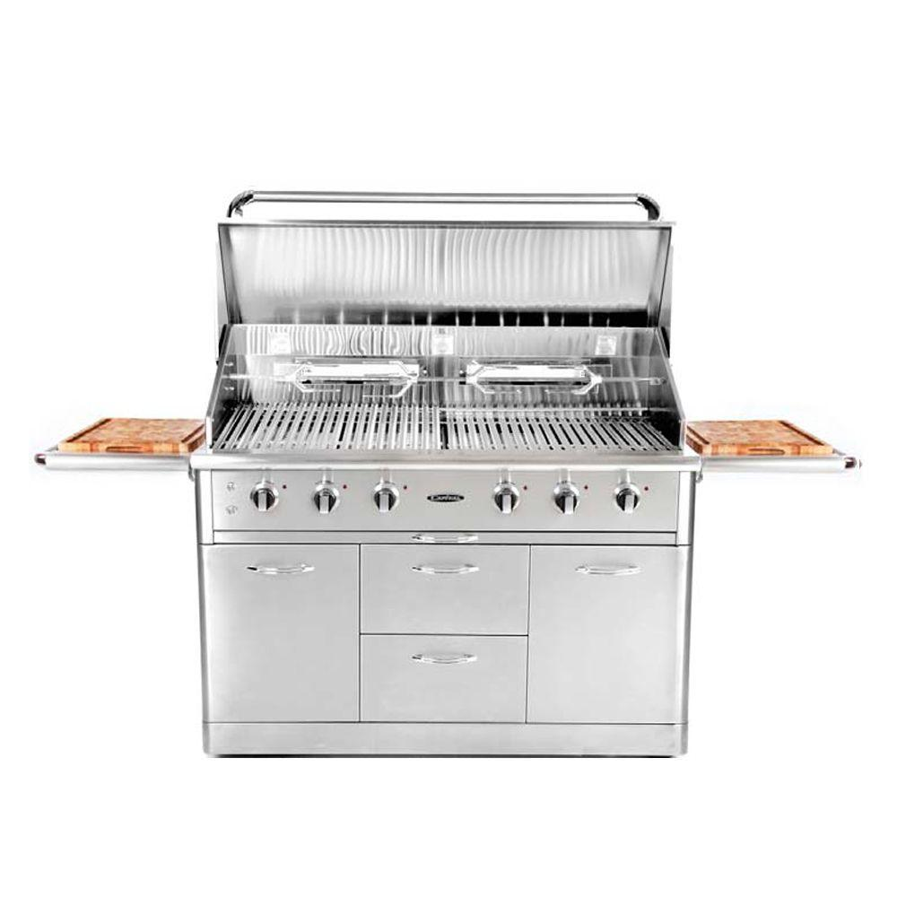 Capital Precision 52 in. 6-Burner Stainless Steel Propane Gas Grill