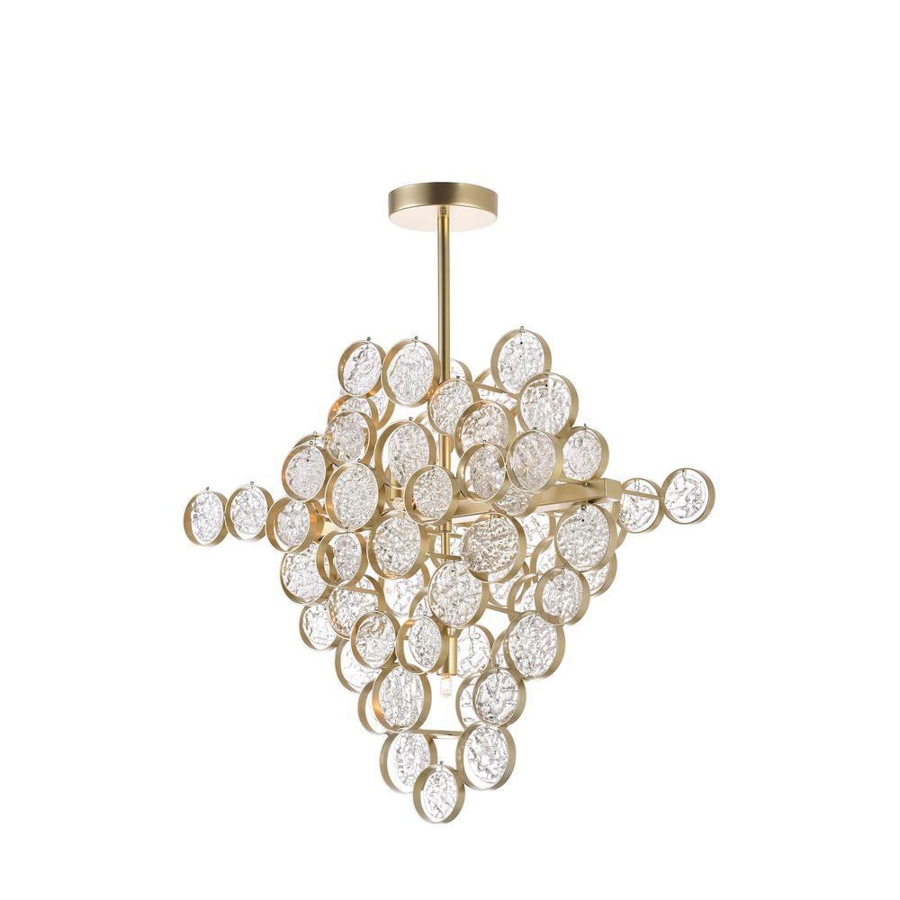 Anastasia 7-Light Gold Leaf Contemporary Chandelier