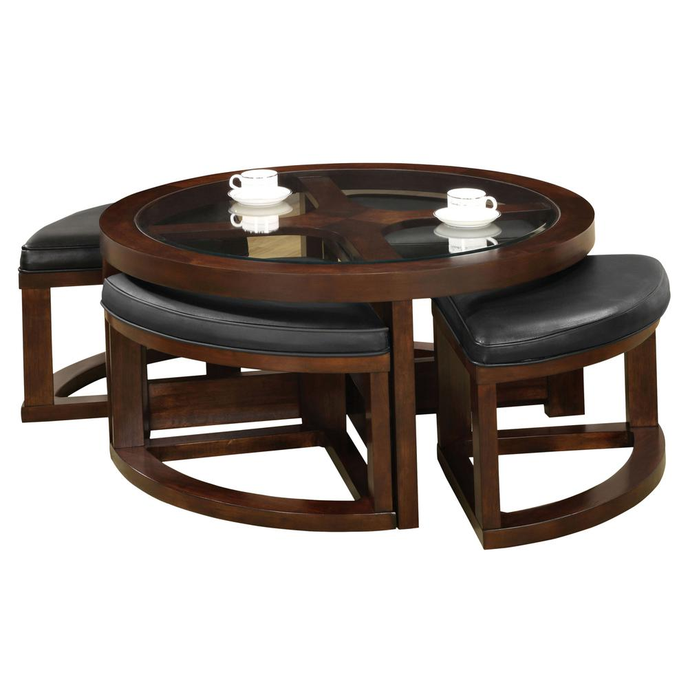 Furniture Of America Crystal Cove II Dark Walnut Coffee Table