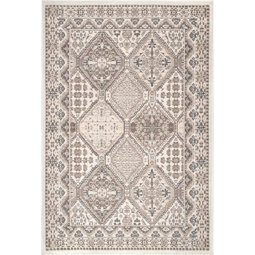 NuLOOM Vintage Tile Becca Beige 8 Ft. X 10 Ft. Area Rug