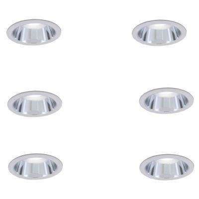 6 in. R30 Clear Recessed Reflector Trim (6-Pack)
