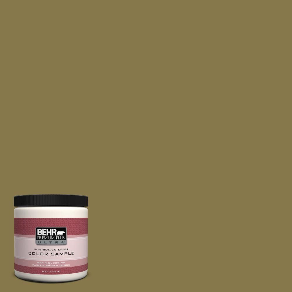 Behr Premium Plus Ultra 8 Oz M330 7 Green Tea Leaf Matte Interior
