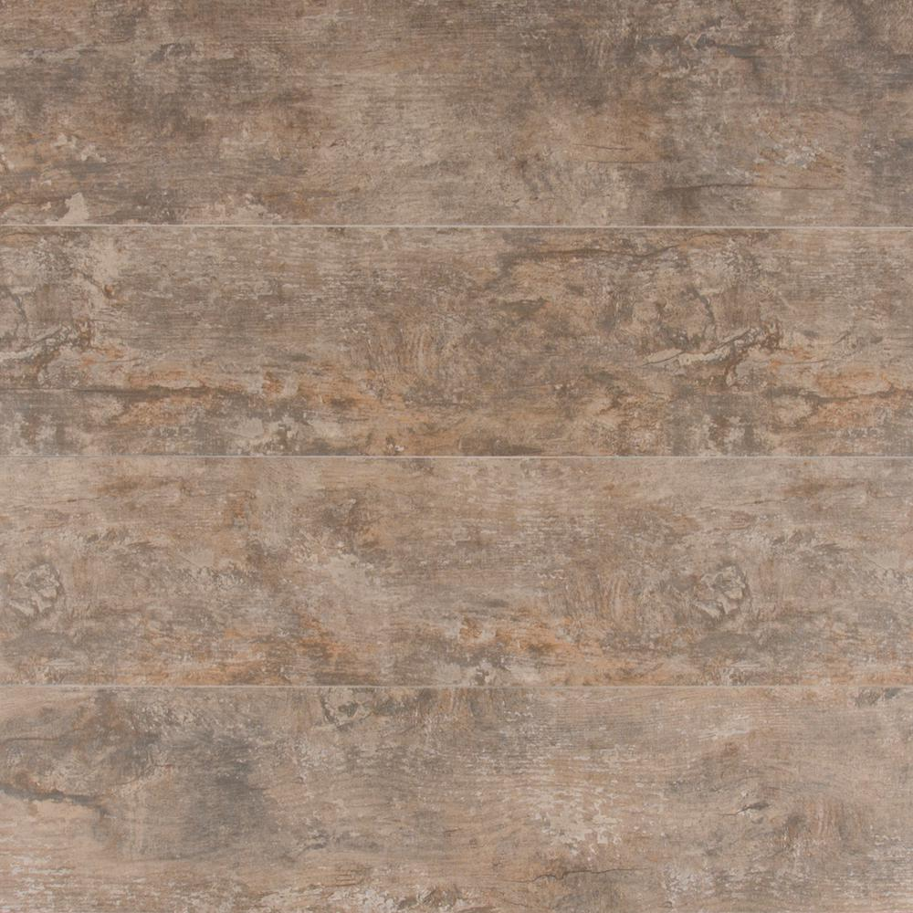MS International Ecowood Argent 6 in. x 24 in. Glazed Porcelain ...