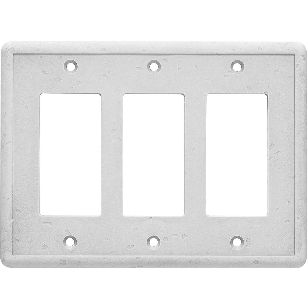 Hampton Bay 3 Decorator Wall Plate, Gray