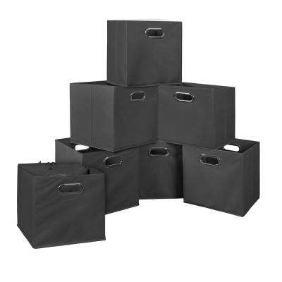 Cubo 12 in. x 12 in. Grey Foldable Fabric Bin (12-Pack)
