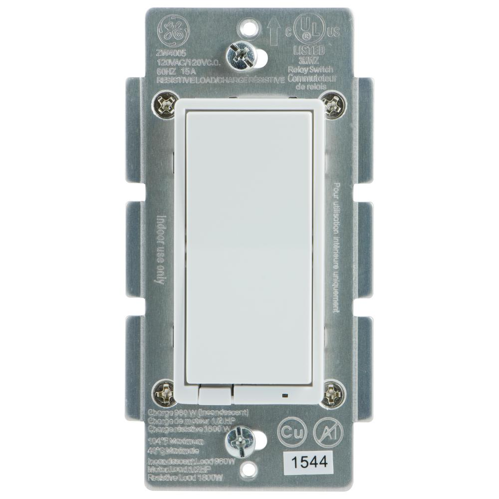 Ge Z Wave Plus In Wall Smart Switch 14291 The Home Depot