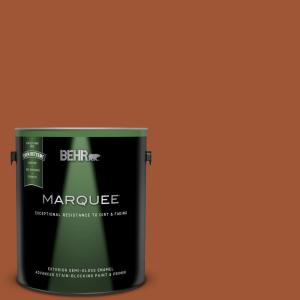 Behr Marquee 1 Gal S H 230 Ground Nutmeg Semi Gloss Enamel Exterior Paint And Primer In One 545301 The Home Depot