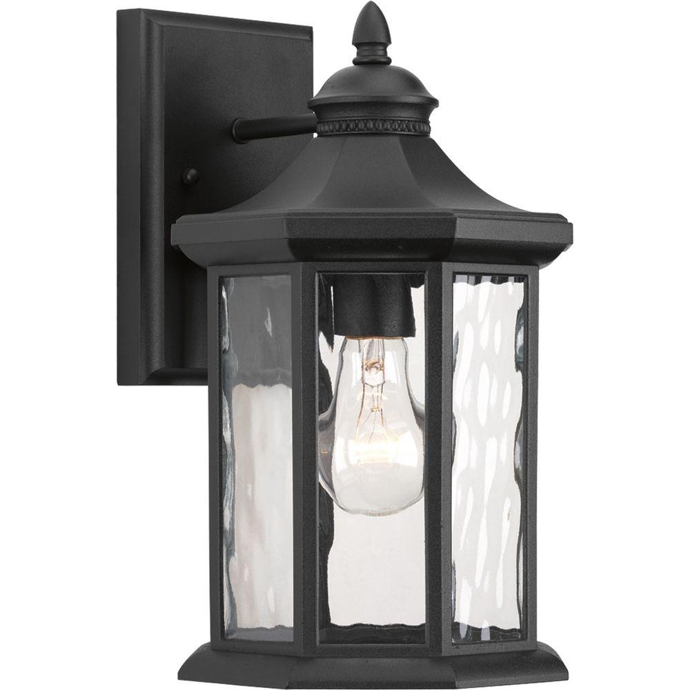 Edition Collection 1-Light 7.125 Inch Black Outdoor Wall Lantern