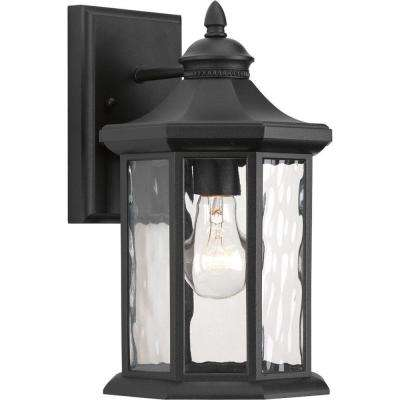 Edition Collection 1-Light Medium Black Outdoor Wall Lantern