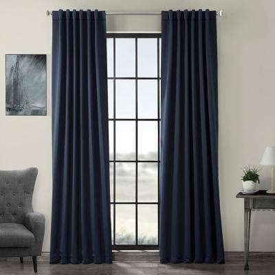 Semi-Opaque Navy Blue Blackout Curtain - 50 in. W x 96 in. L (Panel)