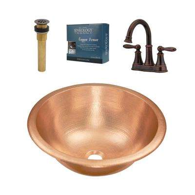 Born All-in-One Undermount or Drop-In Bathroom Design Kit with Pfister Courant Faucet and Drain in Bronze