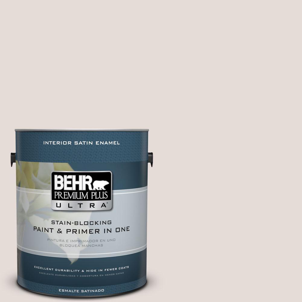 1 gal. #N220-1 Spun Wool Satin Enamel Interior Paint and Primer