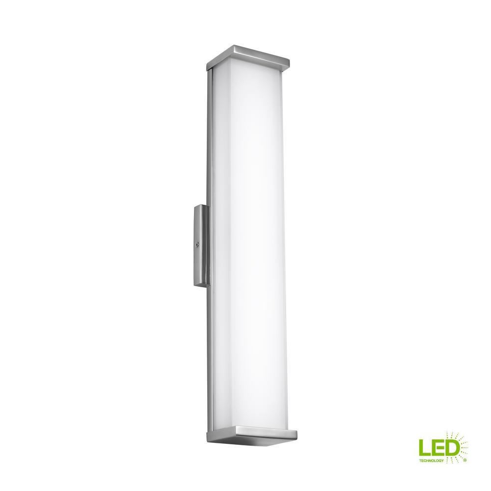 Altron Polished Stainless Steel Outdoor Integrated LED Wall Mount Sconce