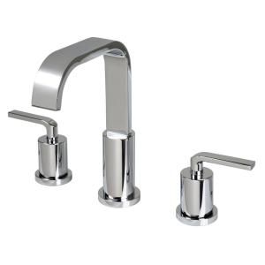 Contemporary 8 in. Widespread 2-Handle Bathroom Faucet with Pop-Up Drain in Chrome